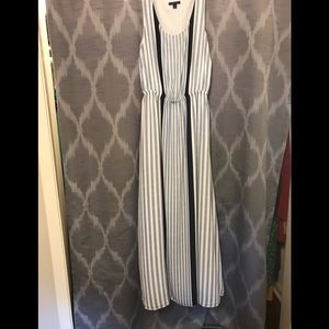 Tommy Hilfiger Maxi Dress - Blue and white Stripes